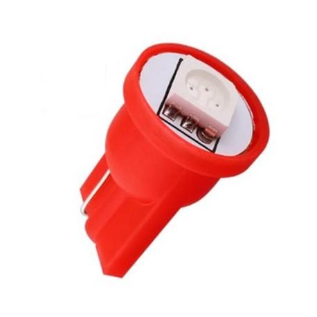 Led Led auto T10 5w5 vermelho de 1 smd mínimos, interior, matrícula