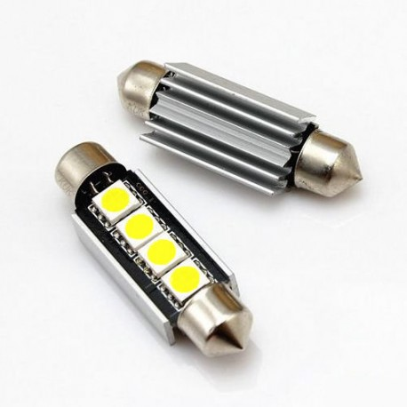 Led tubular 39mm 4smd canbus